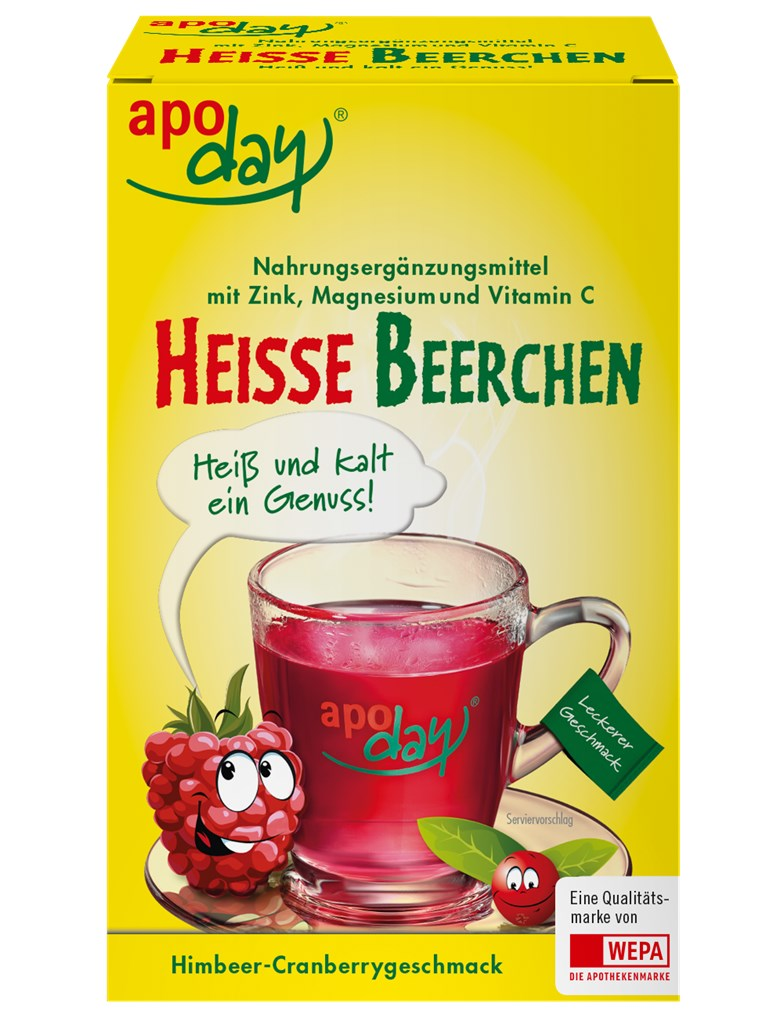 <p>apoday<sup>®</sup> Heisse Beerchen 10er Packung</p>