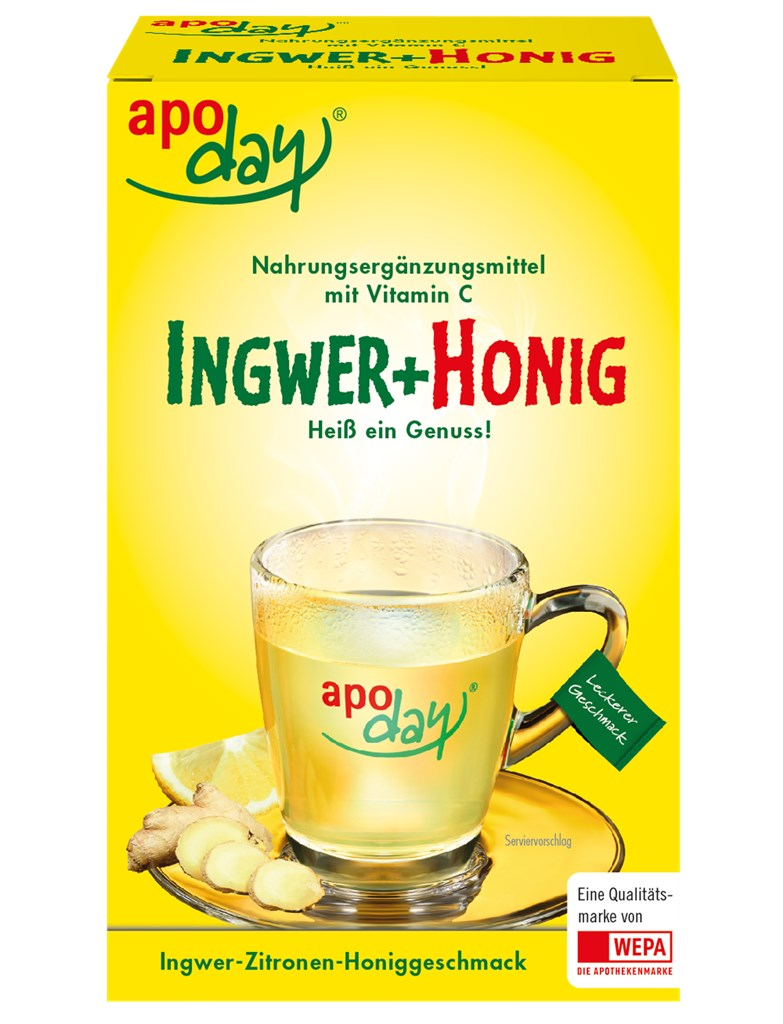 <p>apoday<sup>®</sup> Ingwer+Honig 10er Packung</p>