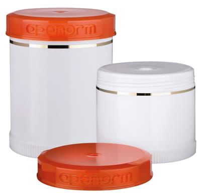 TOPITEC® Kruke 200 g/250 ml, orange/Kosmetik