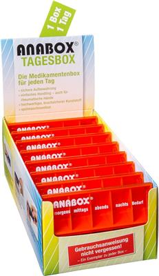 <p>ANABOX<sup>®</sup> Tagesbox Display orange à 16 Stück</p>