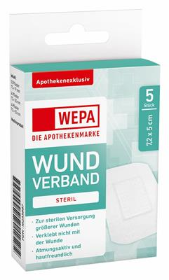 <p>WEPA Wundverband steril 7,2 x 5 cm</p>