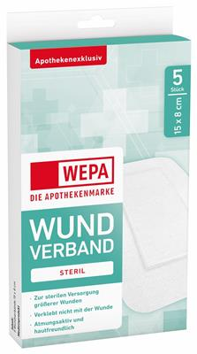 <p>WEPA Wundverband steril 15 x 8 cm</p>