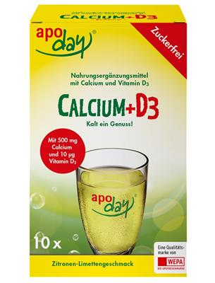 <p>apoday<sup>®</sup> Calcium+D3 10er Packung</p>