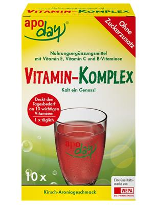 <p>apoday<sup>®</sup> Vitamin-Komplex 10er Packung</p>