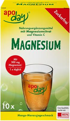 <p>apoday<sup>®</sup> Magnesium 10er Packung</p> <p> </p>