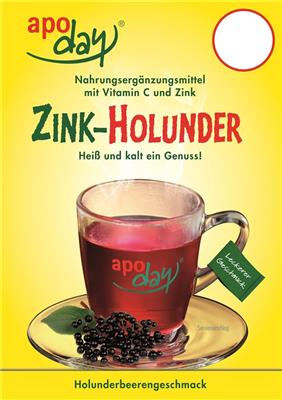 <p>apoday<sup>®</sup> Zink-Holunder Top-Schild</p>
