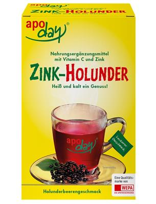 <p>apoday<sup>®</sup> Zink-Holunder 10er Packung</p>