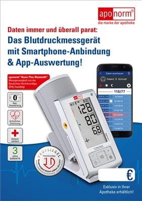 <p>Werbeposter aponorm<sup>®</sup> Basis Plus Bluetooth</p>